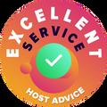 """Nous avons pris le temps de vérifier personnellement et anonymement le service  client de chaque entreprise. Le """"Badge of excellence"""" a été décerné à des entreprises d'hébergement Web respecté l'hôte qui suit des normes élevées de service de conseils au client, ce qui garantit que le service soit rapide, efficace, perspicace et surtout, utile."""