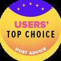 Attribué aux 10 premières entreprises d'hébergement Web avec la note utilisateurs rating le plus élevé.