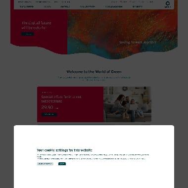 Green.ch HomePage Screenshot