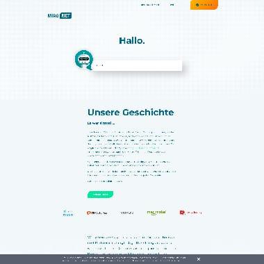 MiroNet HomePage Screenshot